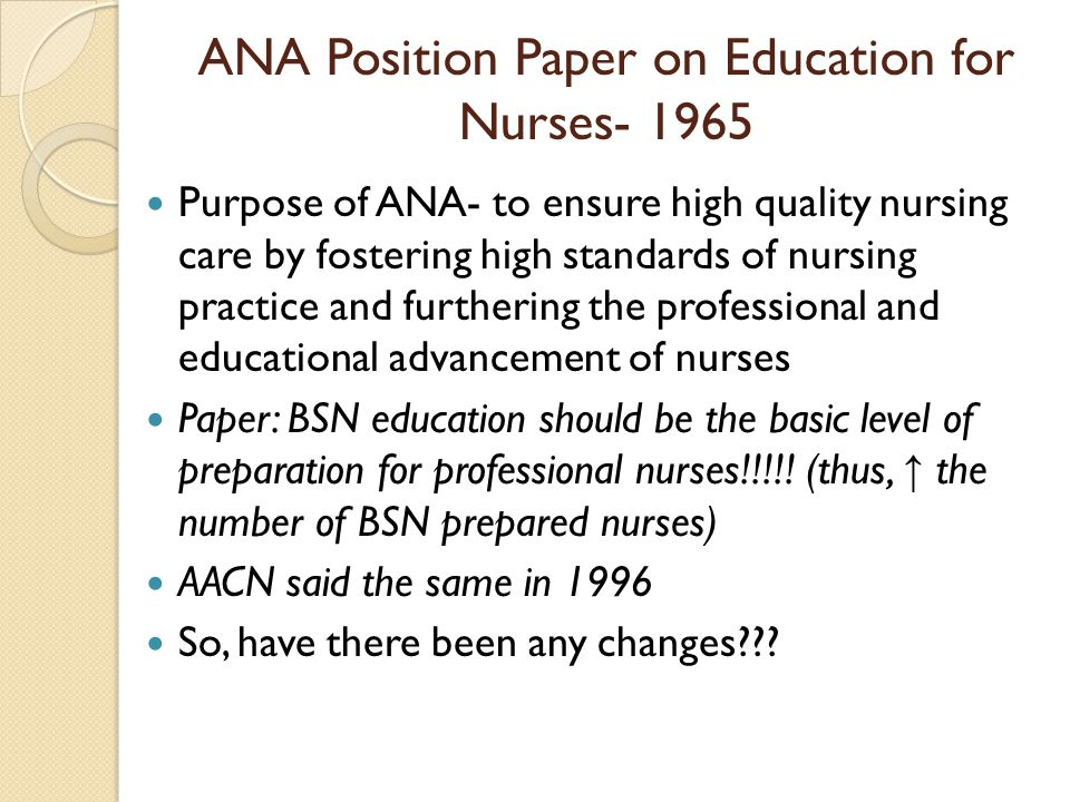 aacn position paper nursing research Research- and practice-focused doctoral programs in nursing share rigorous and  demanding  furthermore, the dnp position statement (aacn, 2004, p.