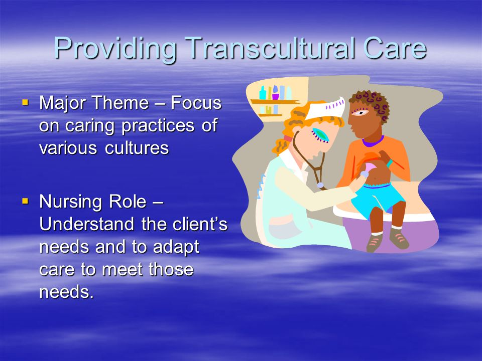 what is the effect of transcultural beliefs and behaviors on health Transcultural nursing theory and models  she is board certifi ed in adult health from the  ber of the transcultural nursing society and chairs the eligibility and.