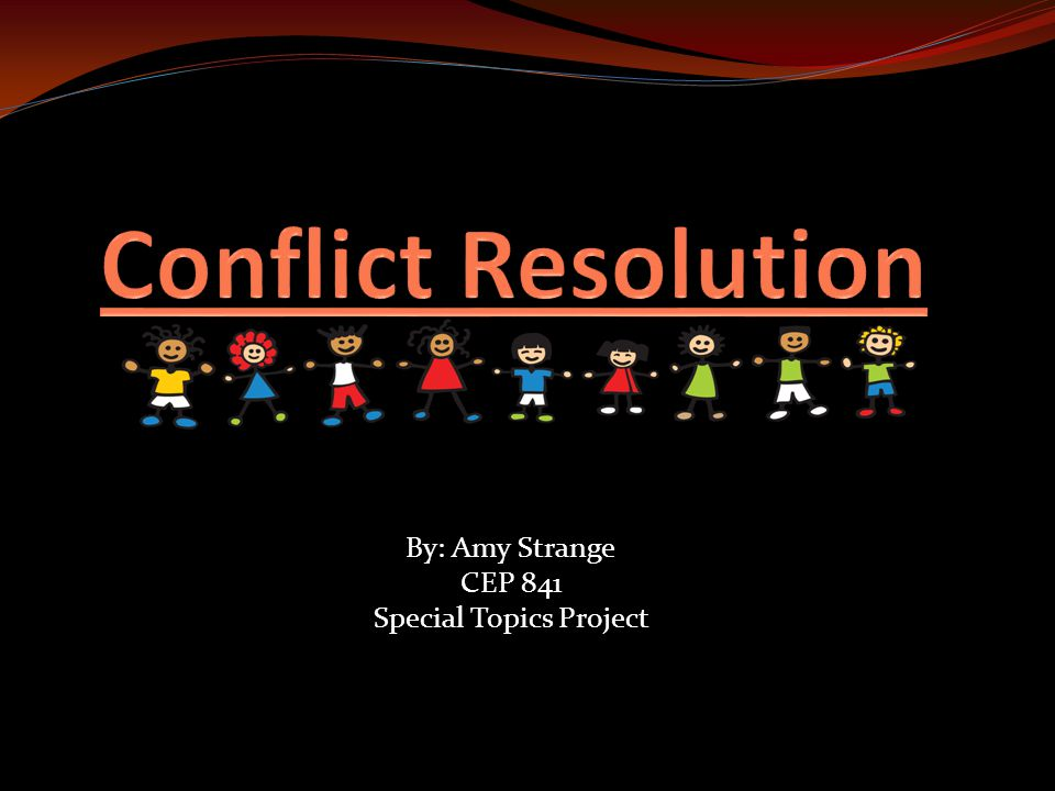 conflict resolution topics