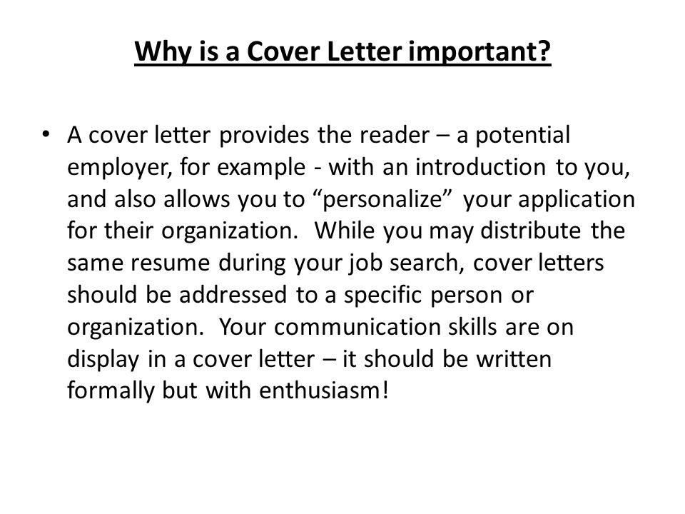 Writing cover letters ppt video online download for Cover letter for potential job opening