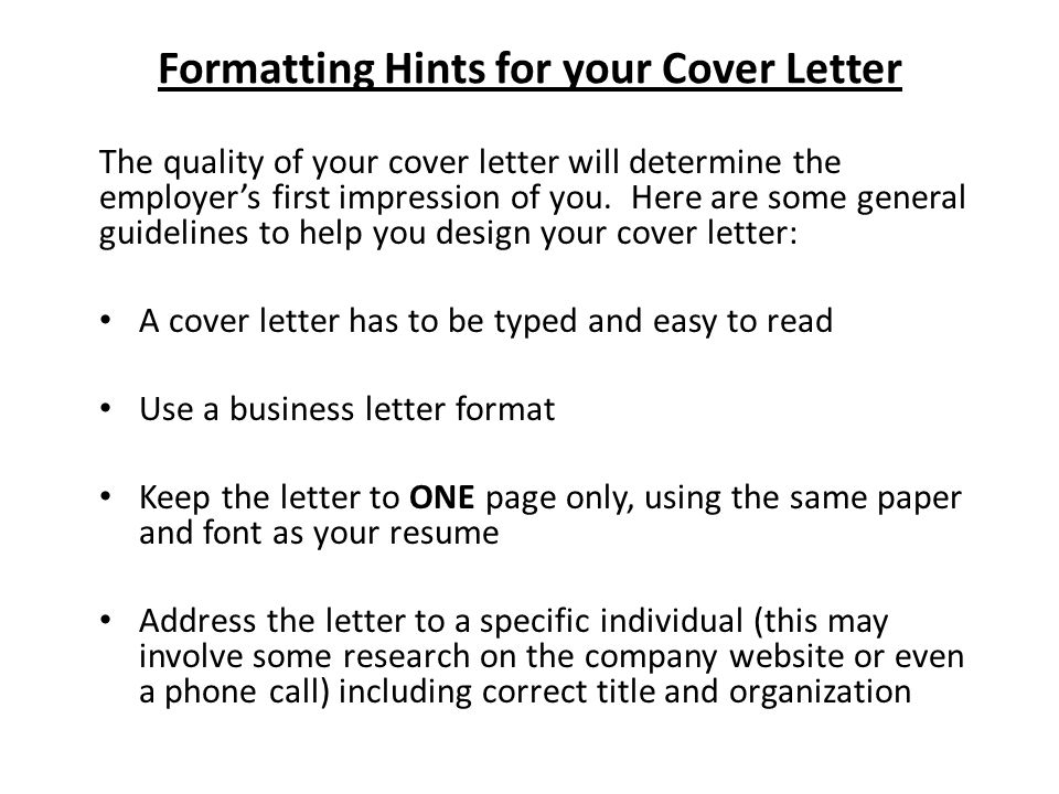 Writing Cover Letters. - Ppt Video Online Download