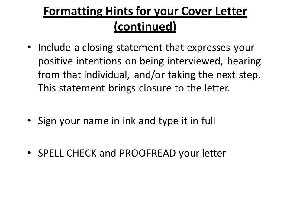 Writing Cover Letters. - Ppt Download