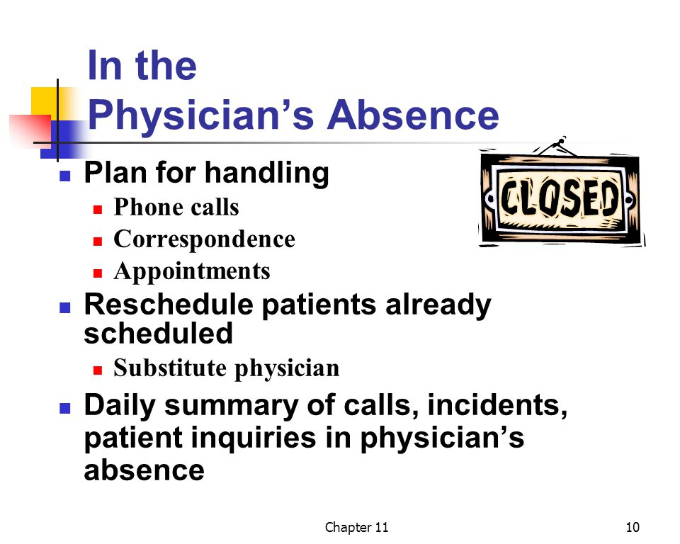 In the Physician's Absence