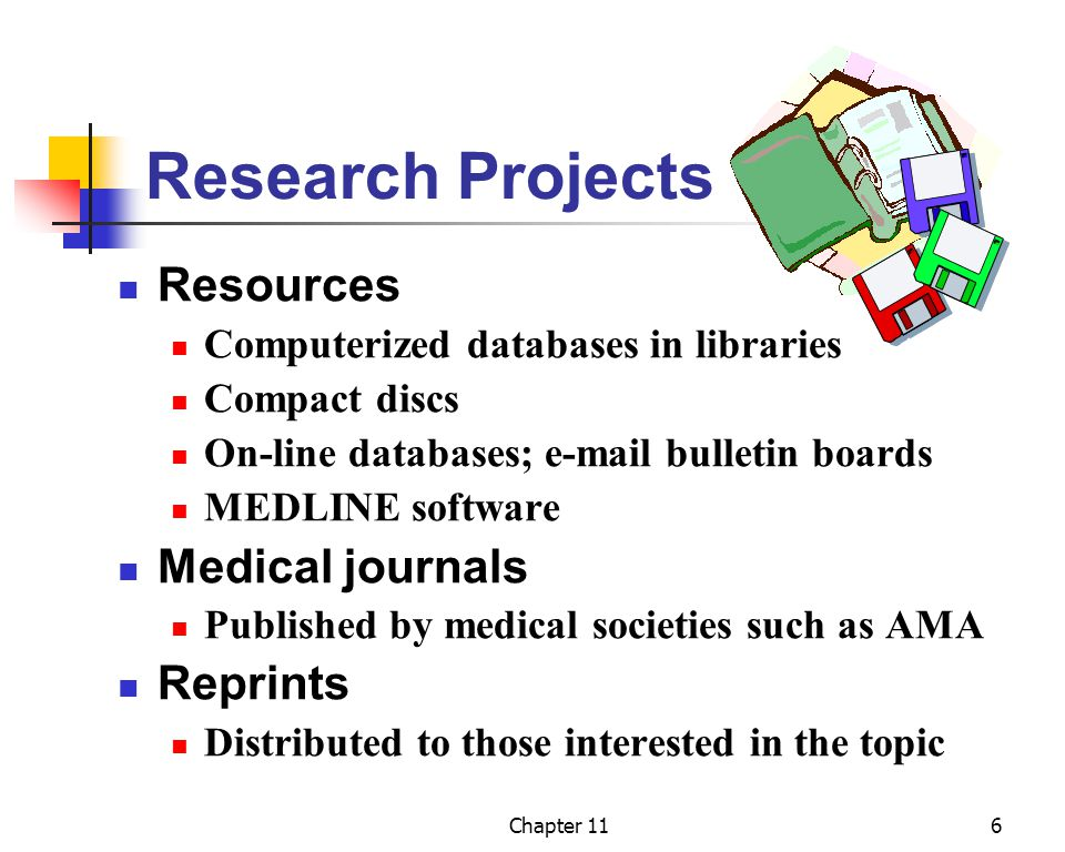 Research Projects Resources Medical journals Reprints
