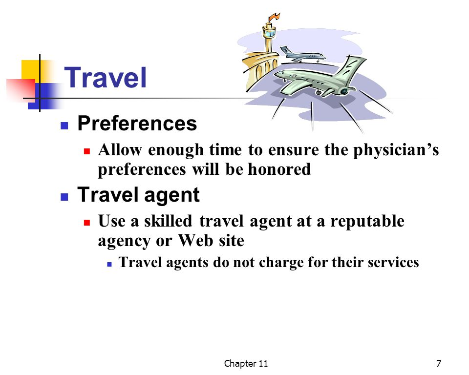 Travel Preferences Travel agent