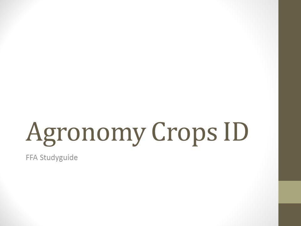 Agronomy FFA Study Guide - StudyBlue