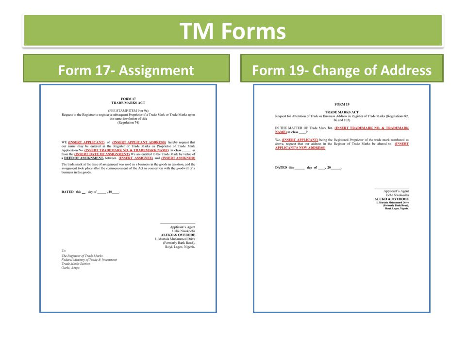Trademark Assignment Form Analytics Support Services Assignments Of