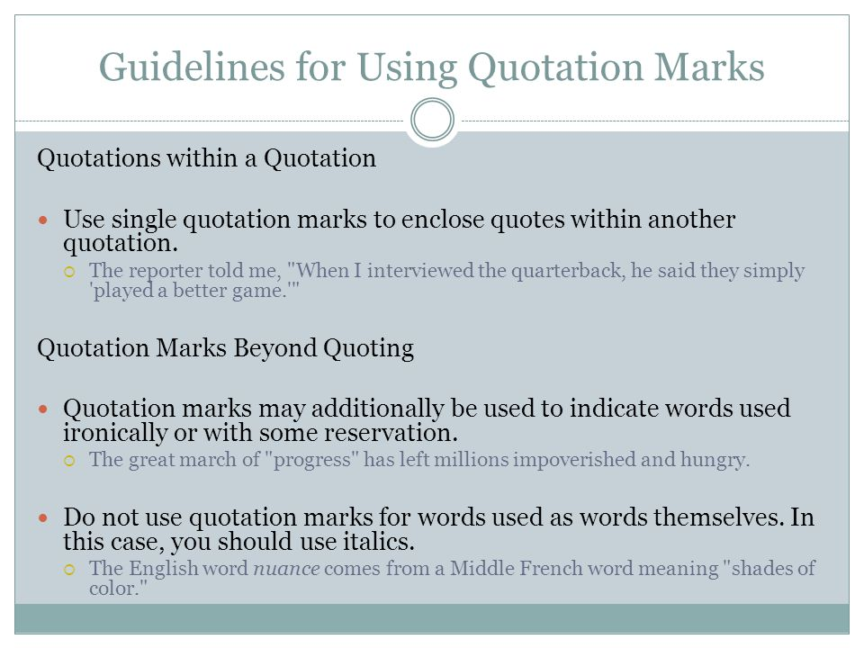 Quotation Marks Advice And Practice  Ppt Download
