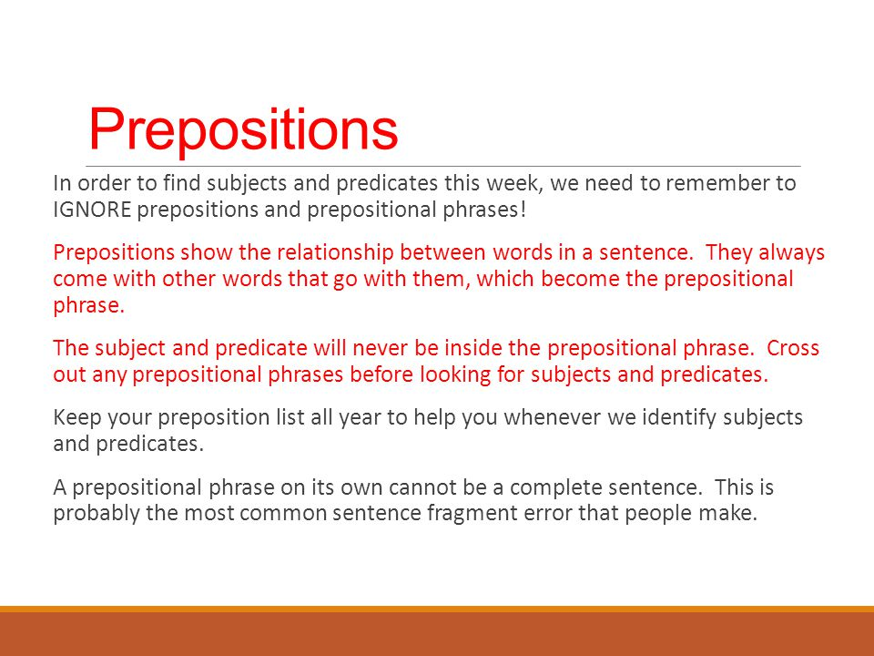 how to find preposition in a sentence