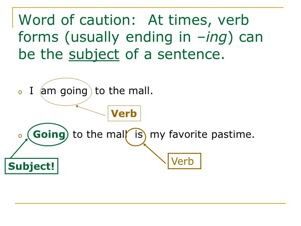 Can a verb be at the end of a sentence - answers.com