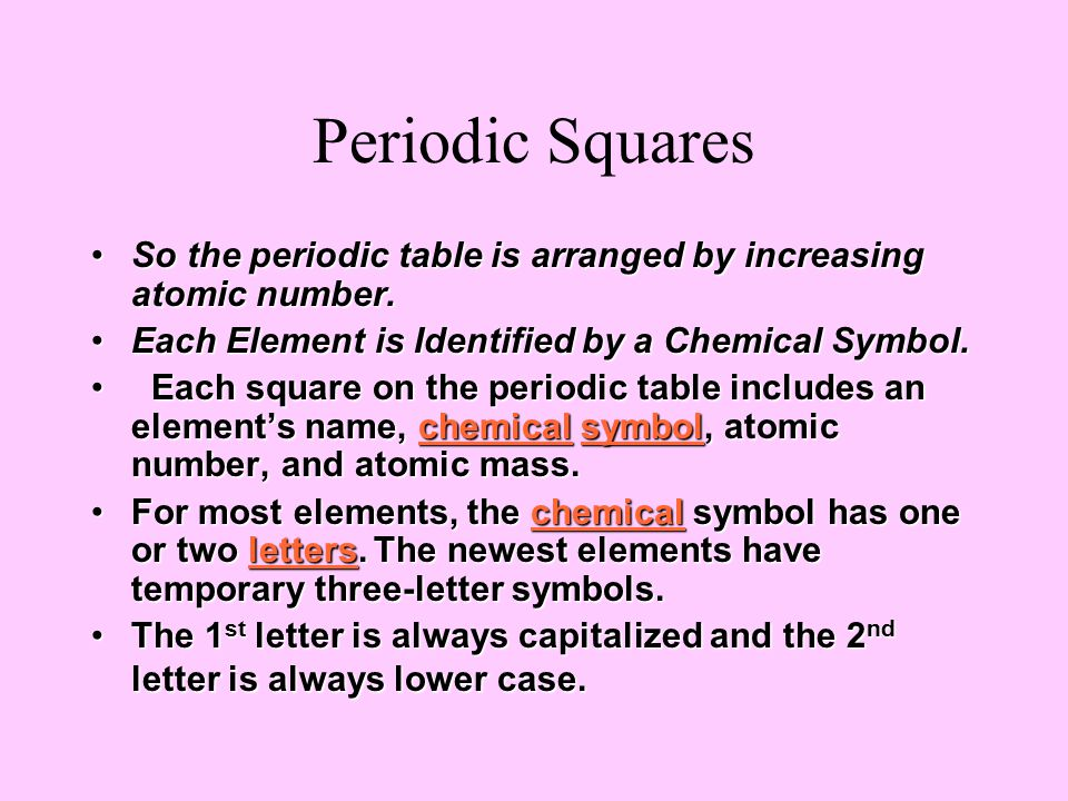 Bell work how do you think the periodic table is arranged and list 4 periodic urtaz Images