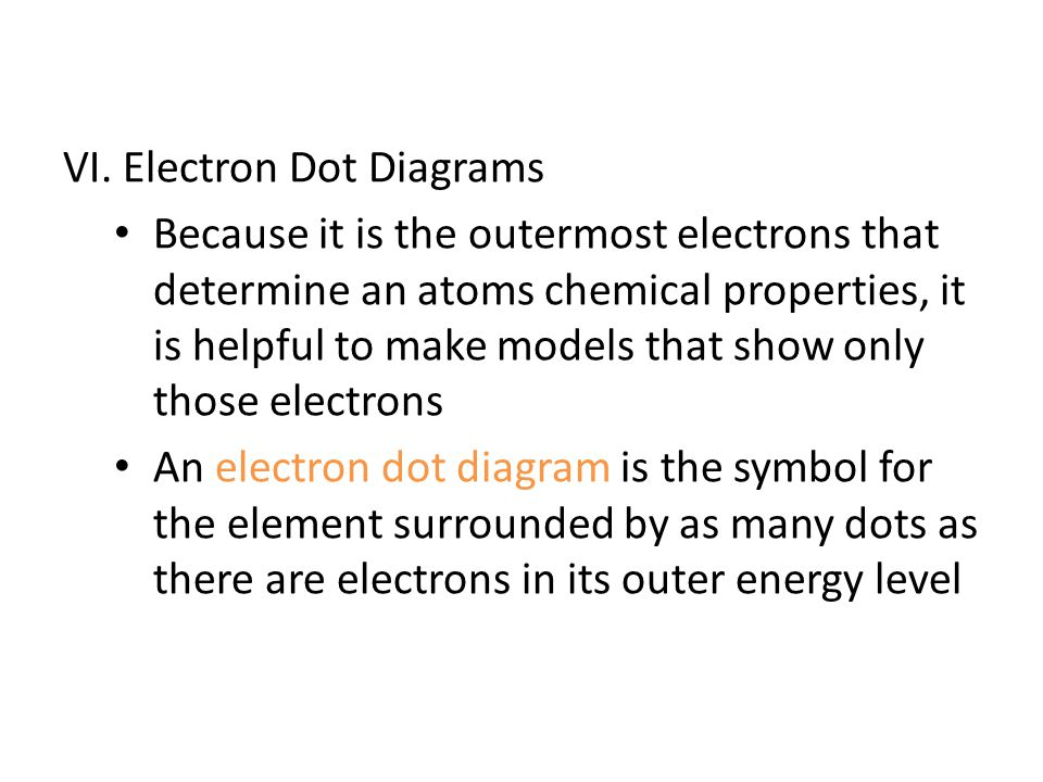 VI. Electron Dot Diagrams