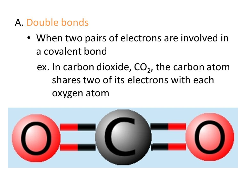 A. Double bonds When two pairs of electrons are involved in a covalent bond.