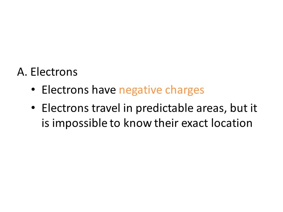 A. Electrons Electrons have negative charges.