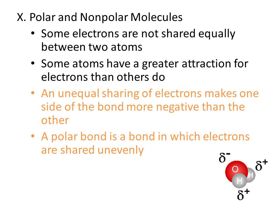 X. Polar and Nonpolar Molecules