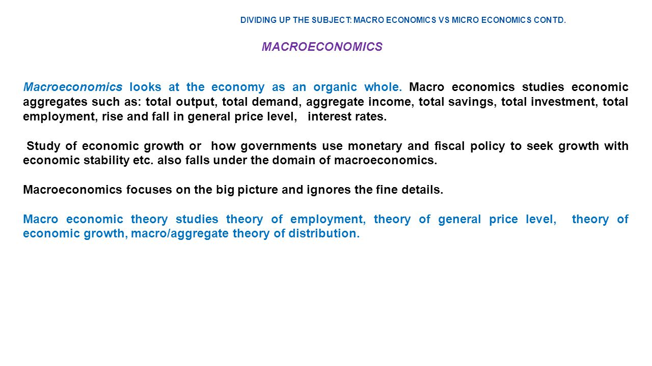 a study of economic growth or fall