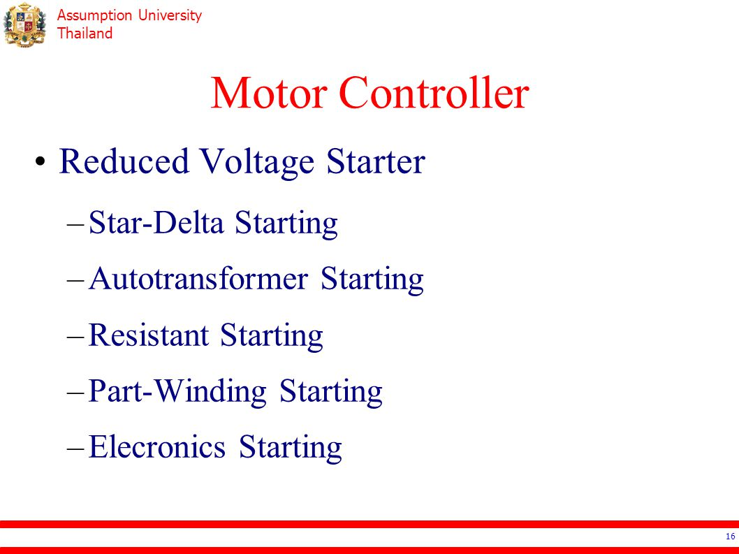 Motor Controller Reduced Voltage Starter Star-Delta Starting