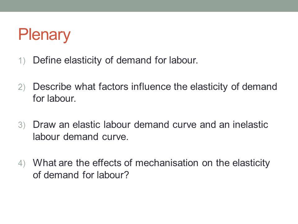 elasticity of labour demand Chapter 4: labor demand elasticities own-wage elasticity of labor demand elasticity and slope slope involves a relationship.