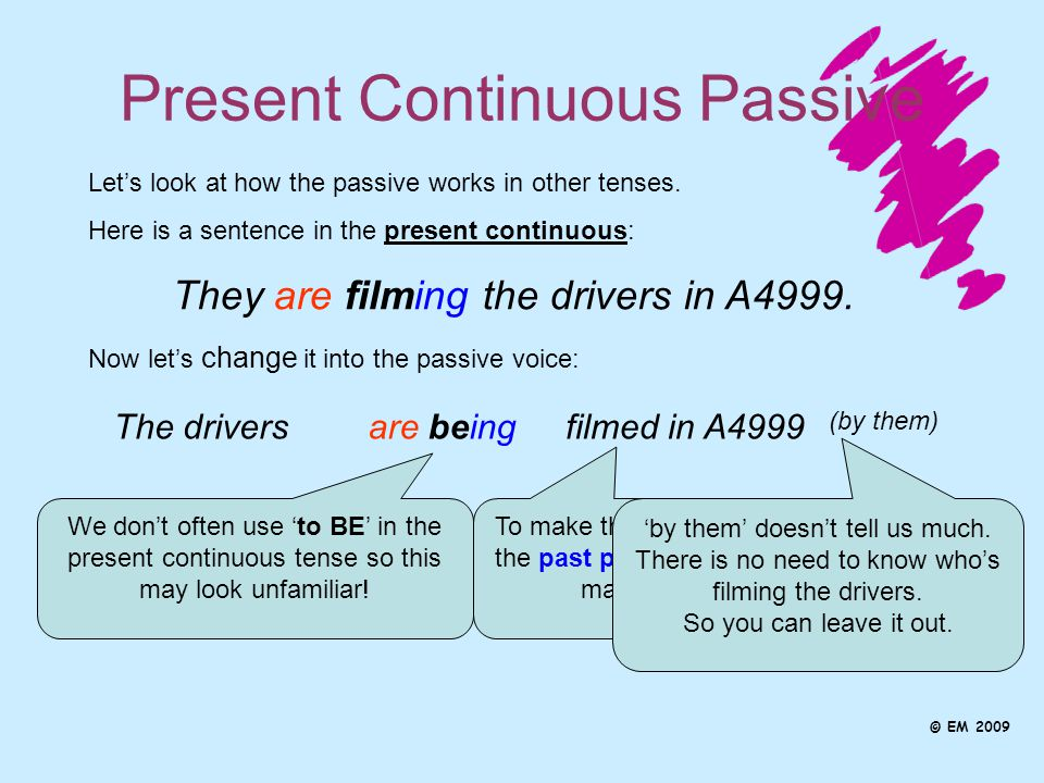 how to change a sentence into passive voice