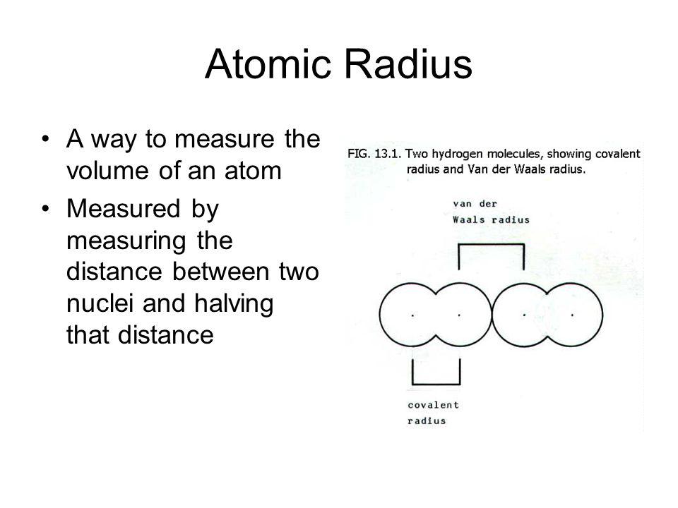 Trends in Atomic Radius, Ionization Energy and ...