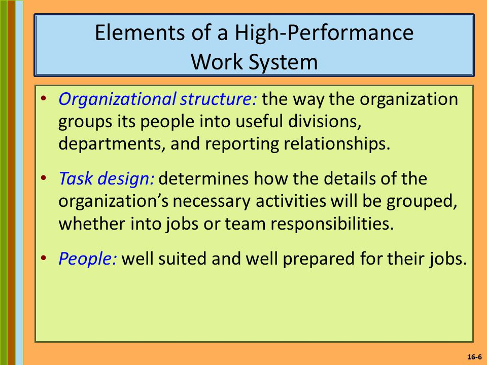 elements of high performance Eight essential elements for building a high performance culture michael  callanan sr and luann barndt eight essential elements to.