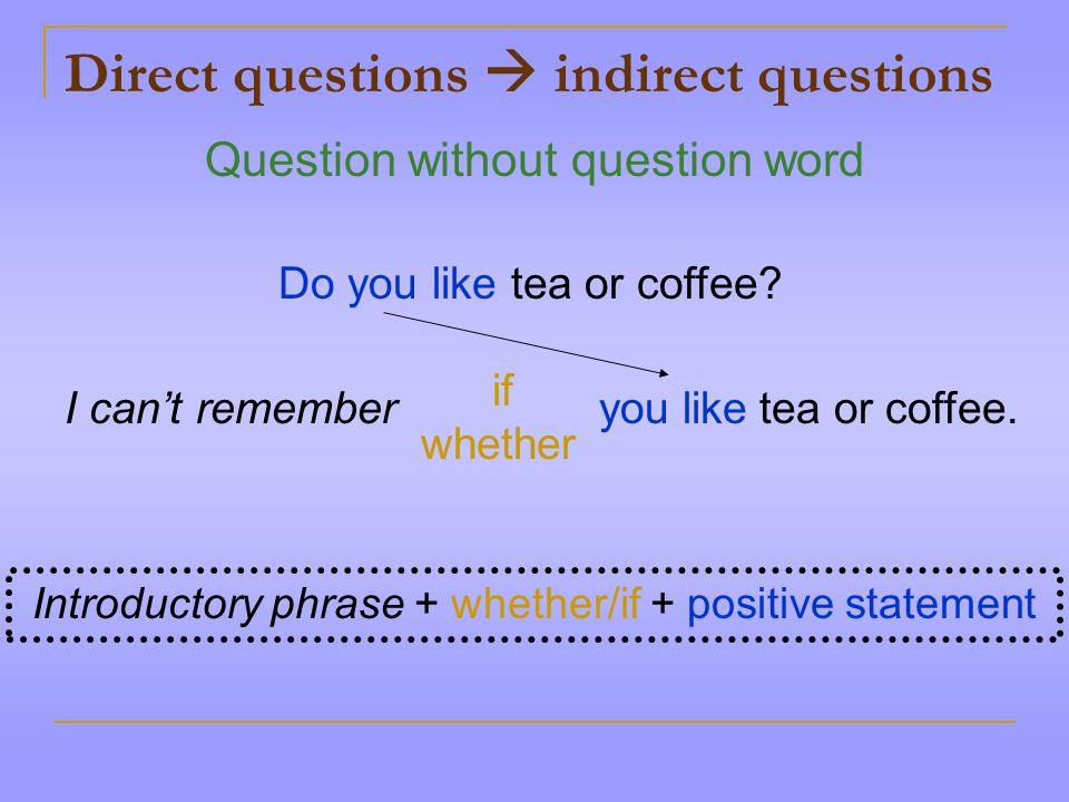 direct and indirect questions pdf