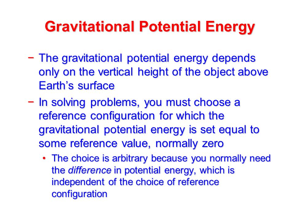 how to find gravitational energy