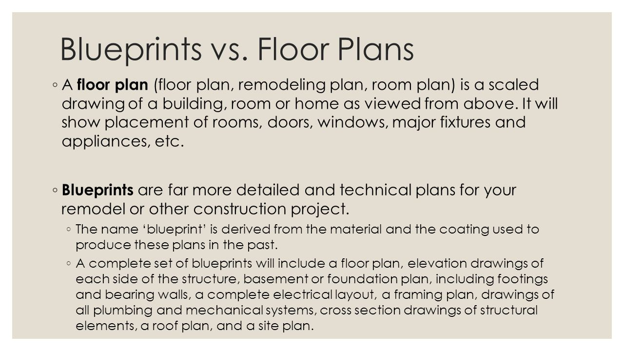 Blueprint Vs Floor Plan