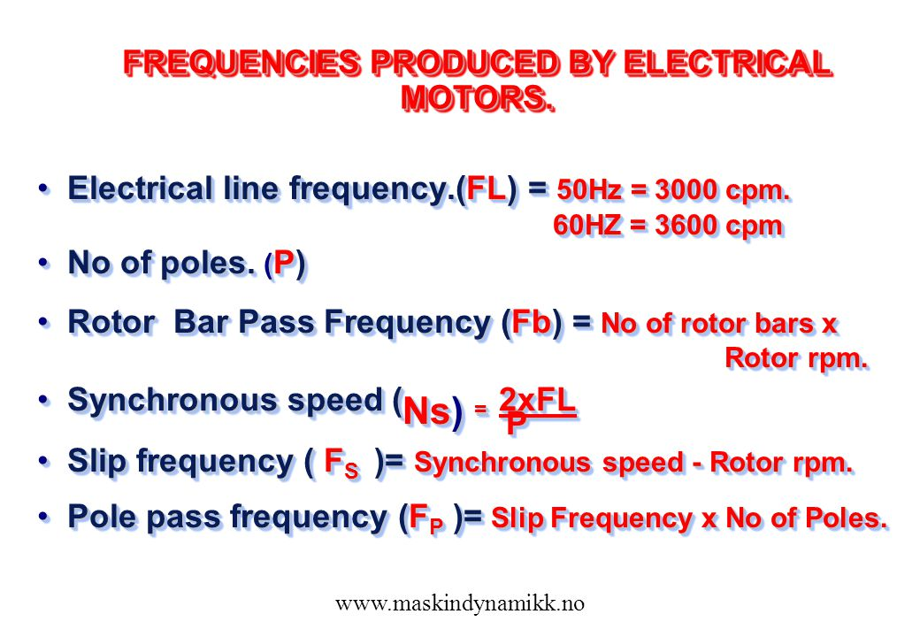 rpm and frequency relationship