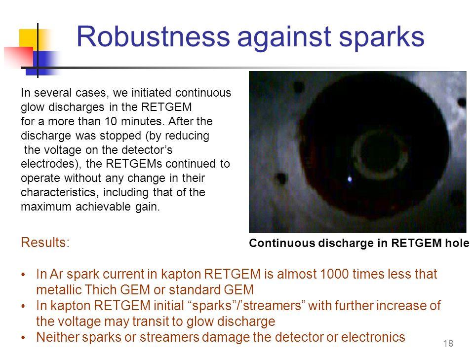 Robustness against sparks
