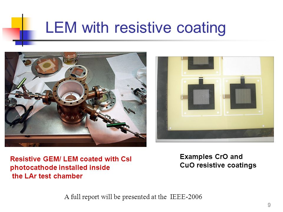 LEM with resistive coating