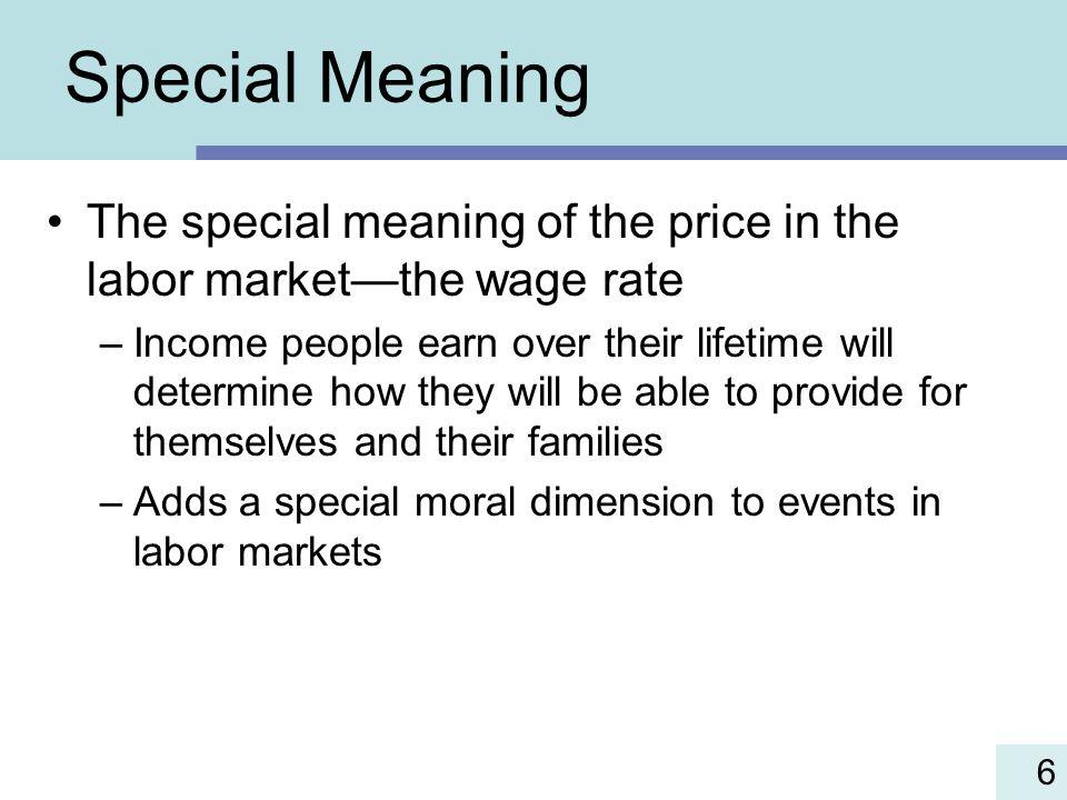 The Labor Market.