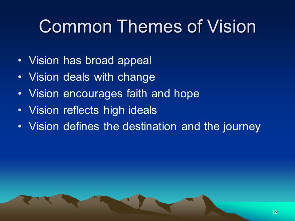 Common Themes of Vision