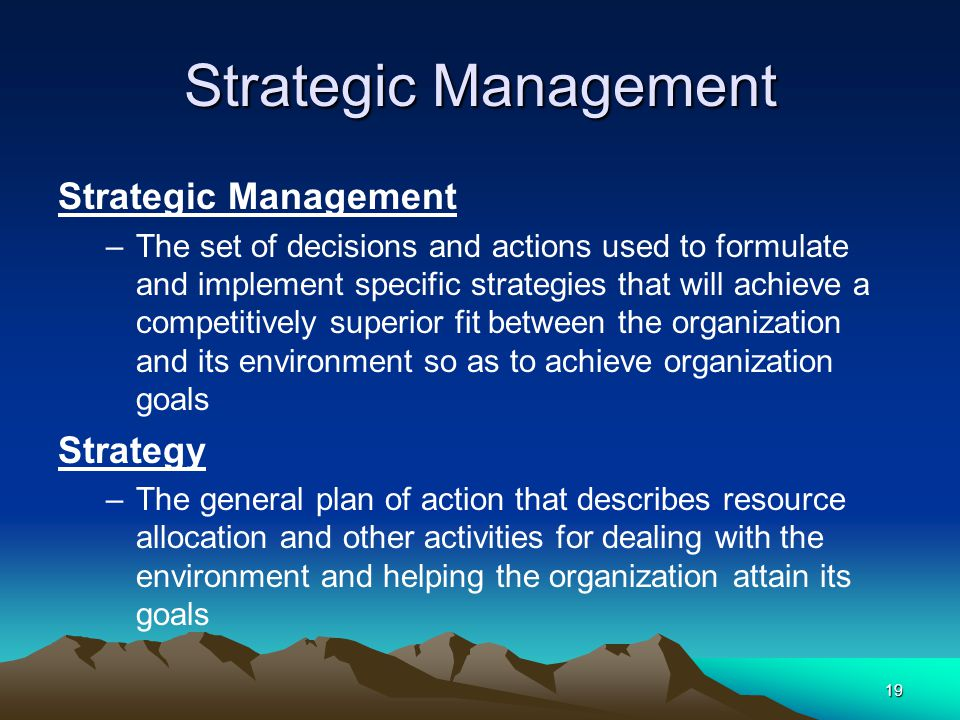 Strategic Management Strategic Management Strategy