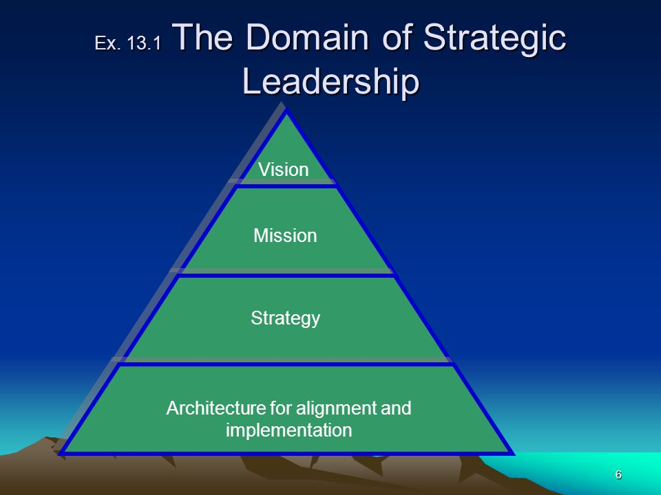 Ex The Domain of Strategic Leadership