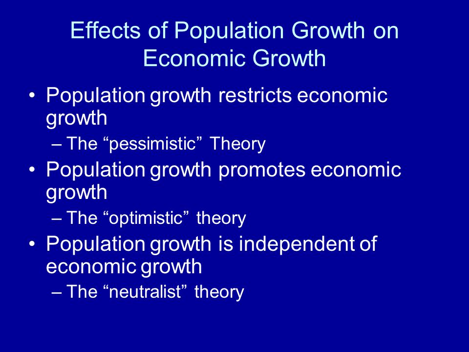 population growth and economic development How is the economy of a country affected by an increase in  economic growth a large population also  effect of population growth on economic development in.