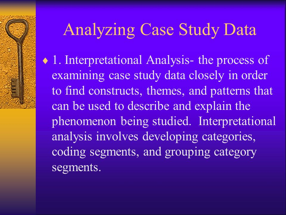 Analyzing Case Study Data