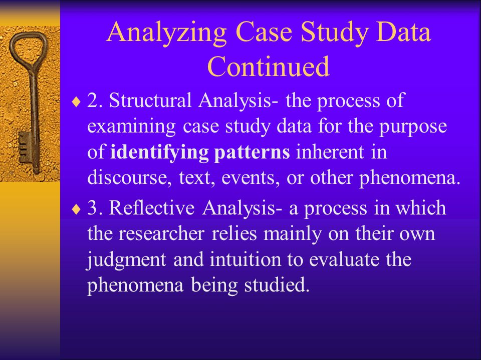 Analyzing Case Study Data Continued