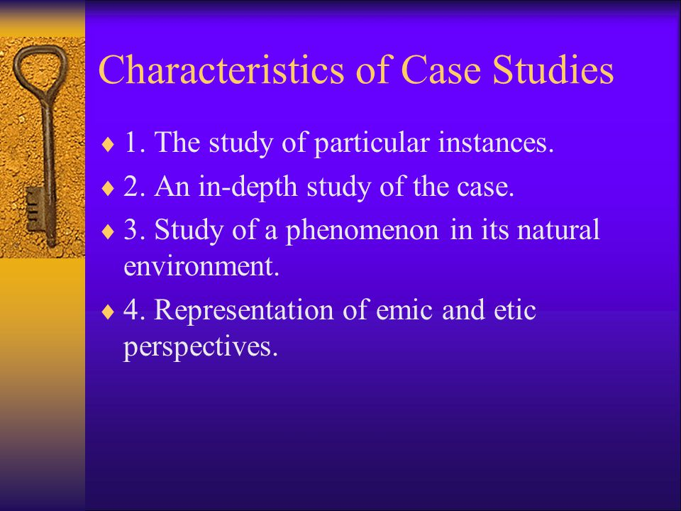 Characteristics of Case Studies