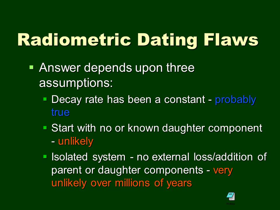 Parent Daughter Ratio Radiometric Dating, geologic age