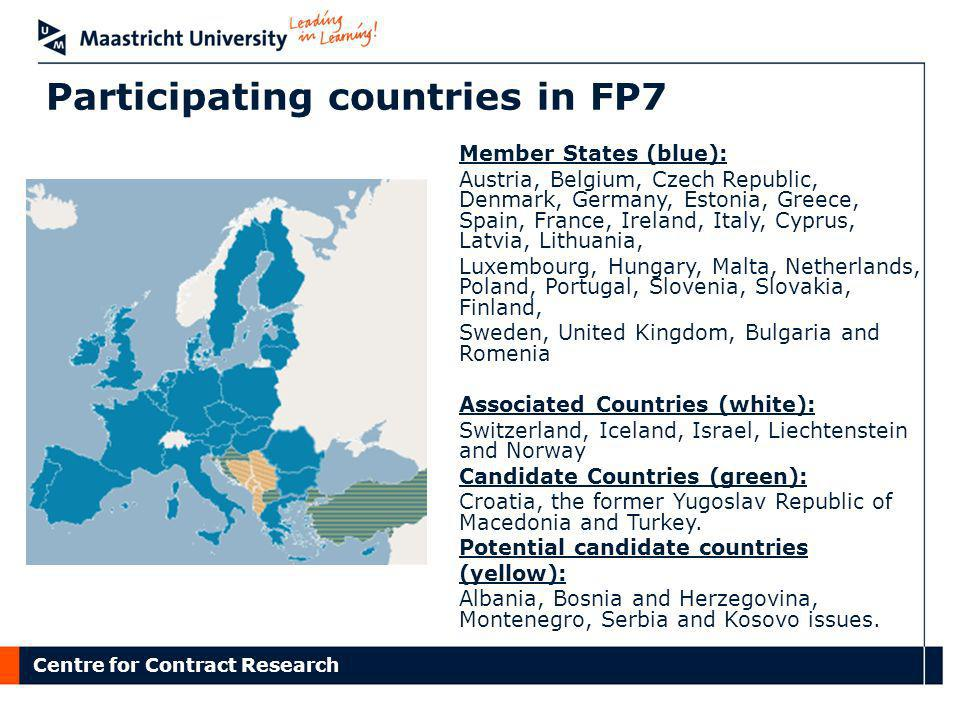 Participating countries in FP7