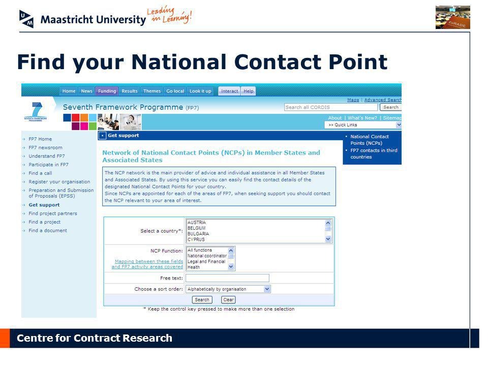 Find your National Contact Point