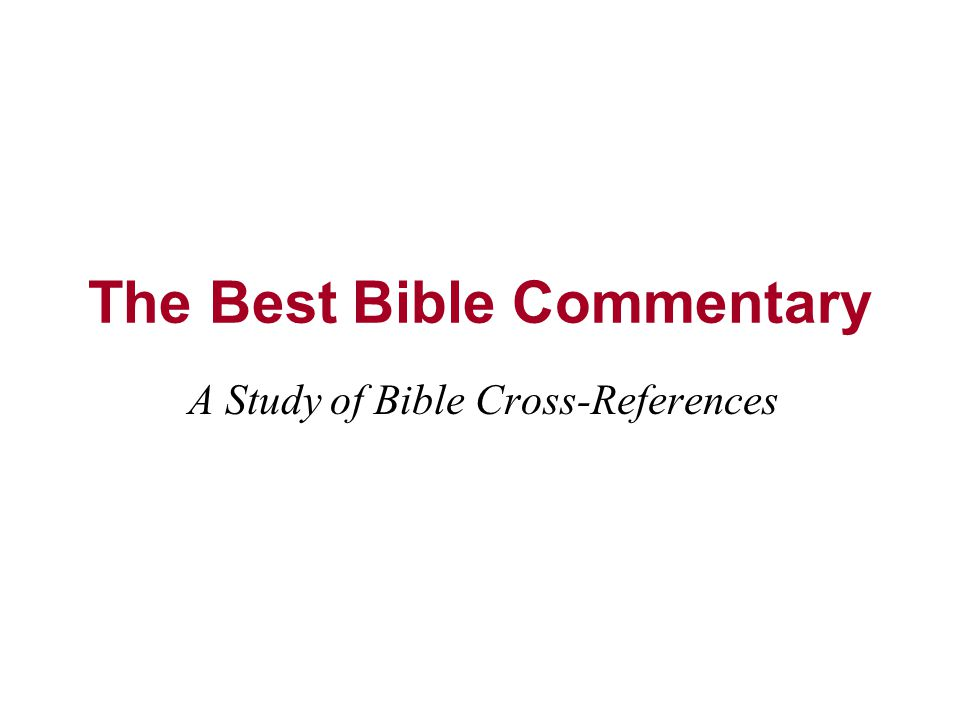The best bible commentary ppt video online download the best bible commentary fandeluxe Choice Image