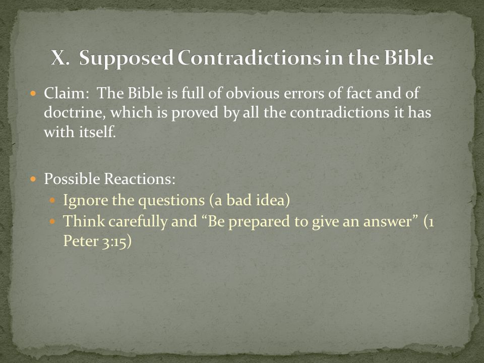 contradictions in the bible