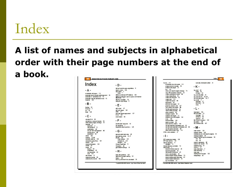 Index A list of names and subjects in alphabetical