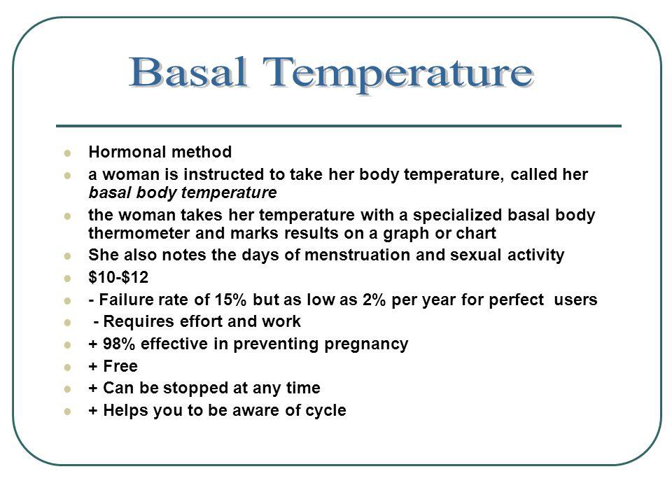 Basal Temperature Hormonal method