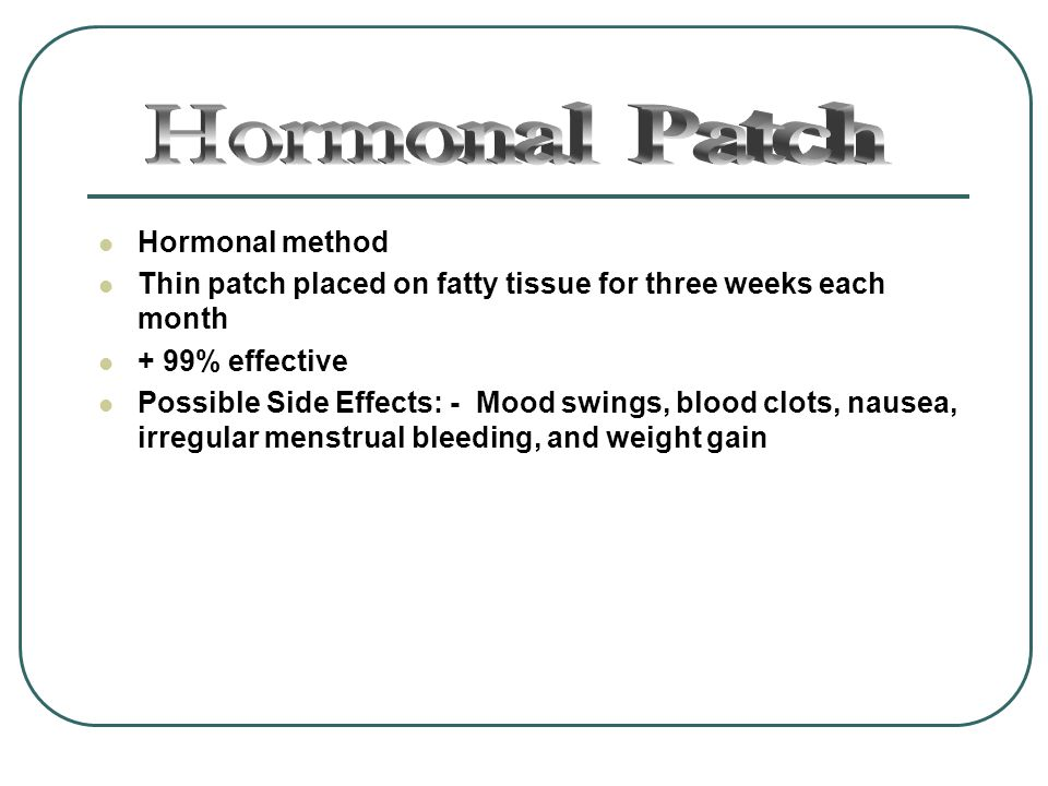 Hormonal Patch Hormonal method
