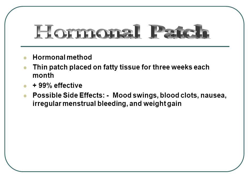 Hormonal Patch Hormonal method