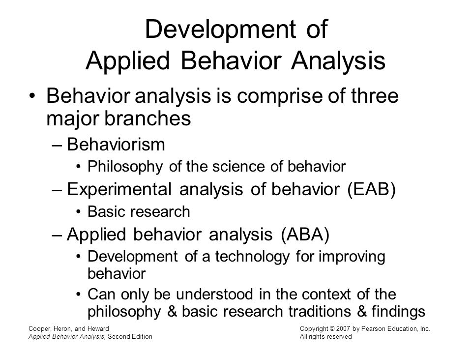 The ABA Visual Language Applied Behavior Analysis