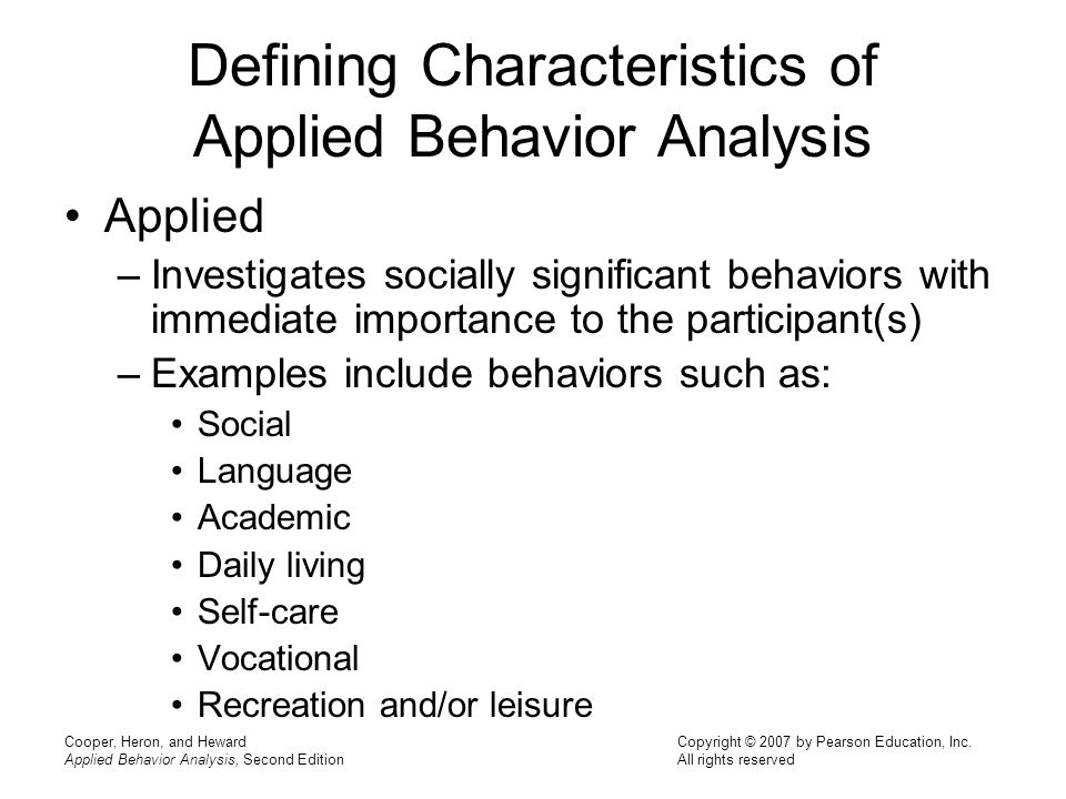 Chapter 1: Definition And Characteristics Of Applied Behavior
